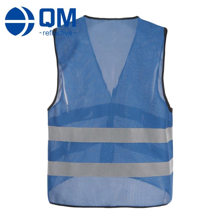 blue mesh reflective running vest qiming reflective vest. Black Bedroom Furniture Sets. Home Design Ideas